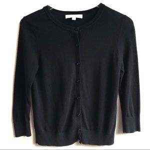 LOFT Black Stitch Detail Cardigan Size SP